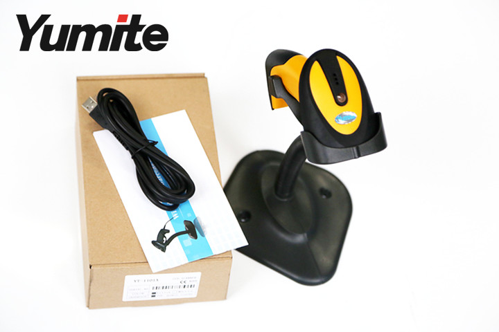 Yumite wired auto-sense ccd barcode scanner with stand, YT-1101A