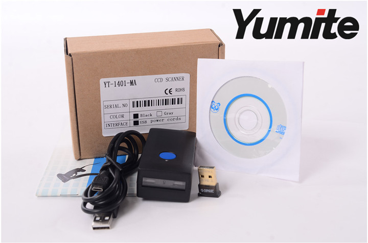 Mini Bluetooth wireless CCD barcode scanner YT-1401-MA