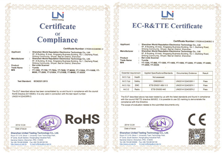 Rohs.CE certification