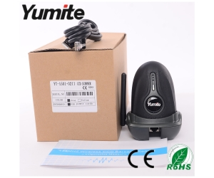 cordless 433Mhz CCD with charge base barcode scanner with rugged shell YT-1501