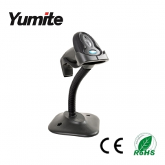 China YT-760A USB Laser Barcode Scanner Auto-scan on the stand/holder/bracket factory