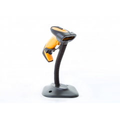China YT-1101B handheld semi-auto sense CCD barcode scanner with stand factory