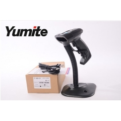 China YT-760B semi-automatic handfree barcode scanner reader with laser rugged stand and USB cable factory