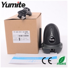 China cordless 433Mhz CCD with charge base barcode scanner with rugged shell YT-1501 factory