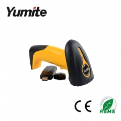 China Handheld wireless 433Mhz 1D laser barcode scanner with USB interface and big memory YT-884 factory